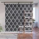 Classic Quatrefoil Lattice Pattern 421 Black and White by tonymagnerdesign