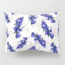 Hand painted watercolor lavender flower bloom, provence Pillow Sham