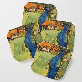 "Egon Schiele ""Stadt am blauen Fluss (Town on the blue river)"" Coaster"