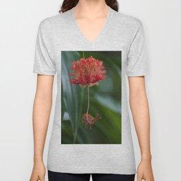 Floral Print 034 Unisex V-Neck