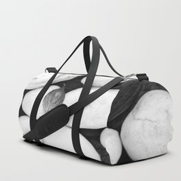 Zen White Stones On A Black Background #decor #society6 #buyart Duffle Bag