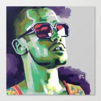 tyler durden Canvas Prints featuring Tyler Durden by Joel Amat Güell