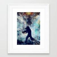 rocket raccoon Framed Art Prints featuring Rocket Raccoon by Luca Leona