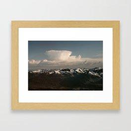 Alaska Snow Capped Mountains Framed Art Print