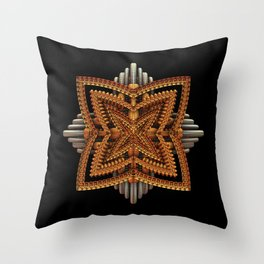 Art Deco Brooch Throw Pillow