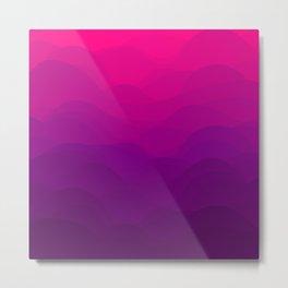 Purple and Pink Waves Metal Print
