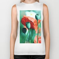 poppy Biker Tanks featuring Poppy by Falko Follert Art-FF77
