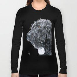 Black Labradoodle Long Sleeve T-shirt