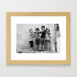 Just kids playing Framed Art Print