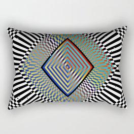 Matrix processor. Holographic hypnotic pattern. Rectangular Pillow