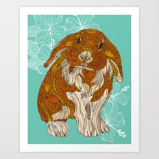 Hello little bunny Art Print