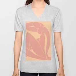 The Blue Nude in Clay, by Henri Matisse Unisex V-Neck