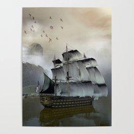 Old Sail Ship Poster