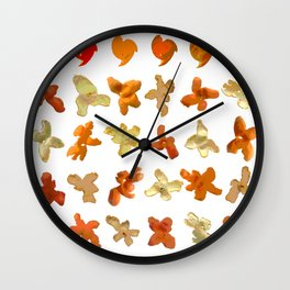 Orange Peel Party Wall Clock