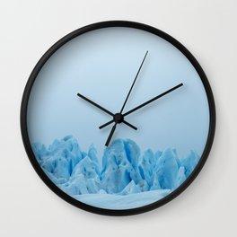 Blue Ice Wall Clock