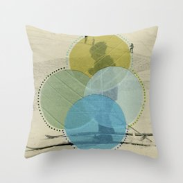 Cold Filters Throw Pillow