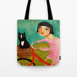 Bike Ride to the Vet by Tascha Tote Bag