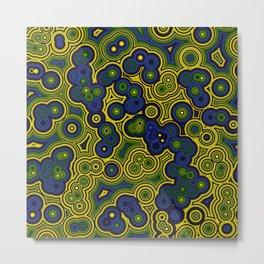 Algae Concentric Circles Metal Print
