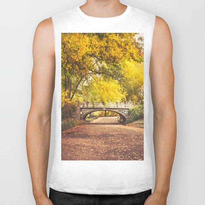 Autumn Path - Central Park - New York City Biker Tank