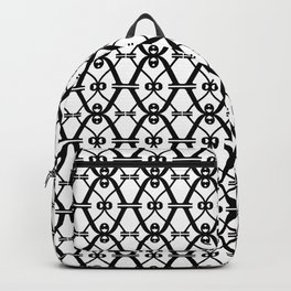 X black and white pattern Backpack