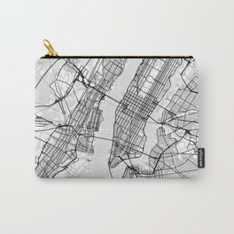 Scandinavian map of New York City in grayscale Carry-All Pouch