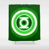 lantern Shower Curtains featuring American Lantern by Rachcox