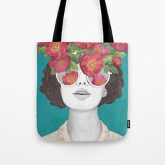 The optimist // rose tinted glasses Tote Bag