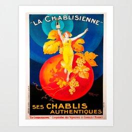 Vintage poster - La Chablisienne Kunstdrucke
