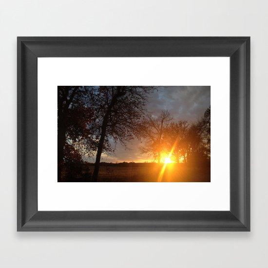 Sunset in the sticks  Framed Art Print