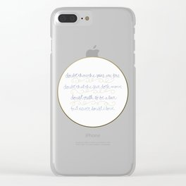 Doubt thou the stars are fire Clear iPhone Case