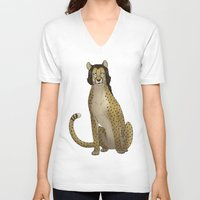 nerd V-neck T-shirts featuring Nerd by Metal Gear Felidae