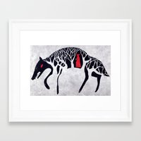red riding hood Framed Art Prints featuring L'il Red Riding Hood by Becca Thorne