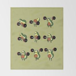 OLYMPIC LIFTING  Avocado Throw Blanket