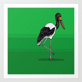 Saddlebill Stork Art Print