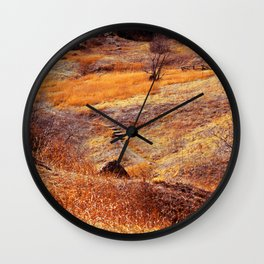Valley in orange Wall Clock