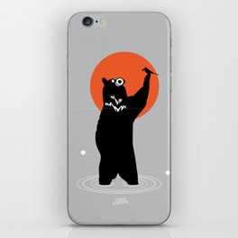 Big Bear and the Bird- Wearing Gas mask iPhone Skin