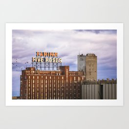 Montreal Farine Five Roses, Montreal Iconic, Urban photo, Architecture, modern Art Print