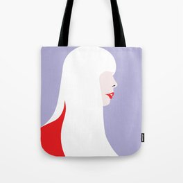 Joni Mitchell (red) Tote Bag