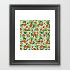 Botanical Strawberries Framed Art Print