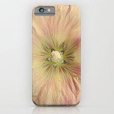Pink HollyHock Flower Slim Case iPhone 6s