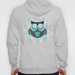 BLUE OWL AND LEAVES Hoody