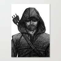 green arrow Canvas Prints featuring Arrow by Jack Kershaw
