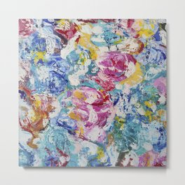 Abstract floral painting Metal Print