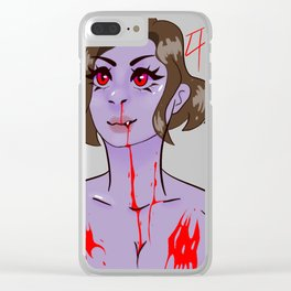 Vampire maenad Clear iPhone Case