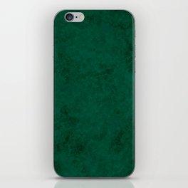 Green suede iPhone Skin