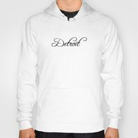 detroit Hoodies featuring Detroit by Blocks & Boroughs