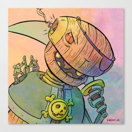 Robot Pirate Canvas Print