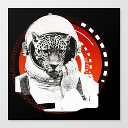 No One Can Hear You Meow in Space Canvas Print