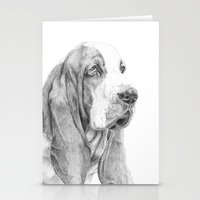 the hound Stationery Cards featuring Basset hound by Doggyshop