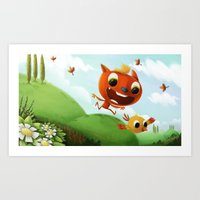 Art Print featuring the chase by Azbeen